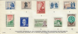 CANADA 1959-1961 CANADA POST CANADIAN HISTORY PRESENTATION CARD - 1952-.... Elizabeth II