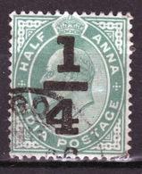 India 1905 King Edward VII  Overprint On Half Anna Used Stamp. - India (...-1947)
