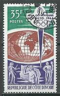 Cote D'Ivoire YT N°225 Jeux Olympiques De Tokyo 1964 Oblitéré ° - Côte D'Ivoire (1960-...)