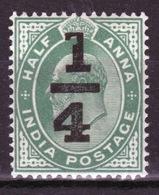 India 1905 King Edward VII  Overprint On Half Anna Unmounted Mint Stamp. - India (...-1947)