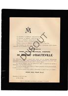 Doodsbrief Marie De Biseau D'Hauteville °1849 Château D'Entremonts Buvrinnes (Binche) †1920 Brussel (H20) - Décès