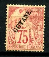 GUYANE - 27 - 75c Rose - Neuf N* - Guyane Française (1886-1949)
