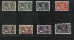 POLAND REVENUE 1920-23 GOLD & SILVER FISCAL REVENUE 8 EXAMPLES NHM BF001-007, 009 TREASURY FUND POLISH OBLIGATORY TAX - Fiscaux