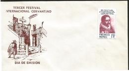 J) 1975 MEXICO, THIRD INTERNATIONAL CERVANTINO FESTIVAL, FDC - Mexique