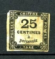 Taxe 5 - 25c Noir - Oblitéré - Taxes