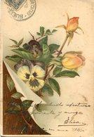 FLORES VIOLA Y ROSAS / VIOLA FLOWERS AND ROSES - POSTAL POSTCARD CIRCULATED -LILHU - Bloemen
