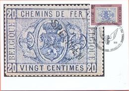 Belgium 1979  Maximumkaart  MK-MC OCB 1929 Dag Van De Postzegel Spoorwegen - Cartes-maximum (CM)