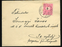 BUDAPEST 1898. 5Kr-os Levél Budapest-Királyháza Mozgóposta Bélyegzéssel , Szép M.Kir.Államvasútak Szép Pecséttel Sátoral - Hungary