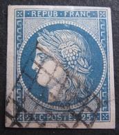 R1606/131 - CERES N°4 - LUXE - GRILLE NOIRE - Voisin à Gauche - Cote : 65,00 € (pliure Non Cassante) - 1849-1850 Ceres