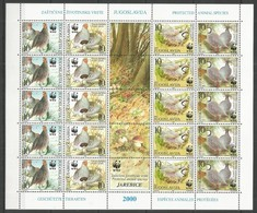 YUGOSLAVIA - MNH - Animals - Birds - Nature - WWF - Birds