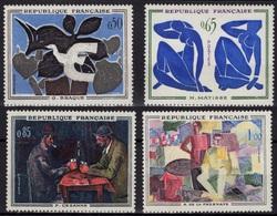 FRANCE Poste 1319 à 1322  ** MNH Tableau Braque Matisse Cézanne De La Fresnaye Painter Mahler 2 - France