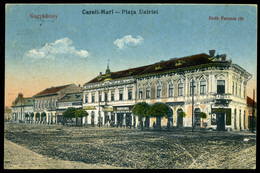 NAGYKÁROLY 1918 . Cca.   Régi Képeslap , üzletek - Hungría