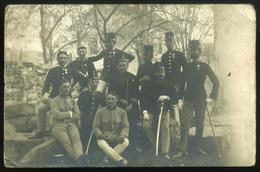 1909. Bosznia, Bilek, Magyar Katonák, Fotós Képeslap Budapestre Küldve  /  1909 Bosnia, Bilek, Hun. Soldiers Photo Vinta - Foto