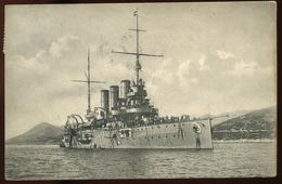 POLA 1908. Haditengerészet, SMS Karl Hadihajó, Régi Képeslap Budapestre Küldve  /  POLA 1908 NAVY SMS Karl Battleship Vi - Ungarn