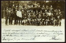 BUDAPEST 1901. K.u.K. Tisztek, érdekes Régi Fotós Képeslap - Foto