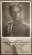Doodsprentje / Image Mortuaire - Koning / Roi Leopold III (Astrid) - Brussel, 1901 - Sint-Lambrechts-Woluwe, 1983 - Religion & Esotérisme
