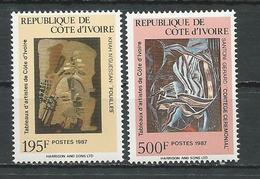 COTE IVOIRE Scott 841-842 Yvert 793-794 (2) ** Cote 7,75 $ 1987 - Côte D'Ivoire (1960-...)