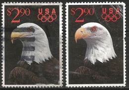 USA 1991 Scott 2540 Used 2 Stamps Eagle - Etats-Unis