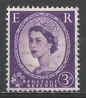 Great Britain 1956. Scott #322 (U) Queen Elizabeth II * - 1952-.... (Elizabeth II)