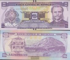 Honduras Pick-number: 97 Uncirculated 2012 2 Lempiras - Honduras