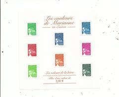 Feuillet N° 45 LES COULEURS DE MARIANNE En Euros (2002)......à Voir - Neufs