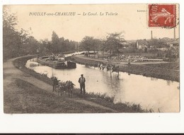 Loire Pouilly Sous Charlieu Le Canal La Tuilerie Attelage Et Péniche - France