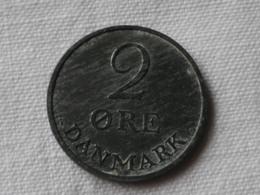 Danemark  2 Ore 1955   Frederik IX  Cupronickel    Km#840.1      UNC  SUP - Danemark