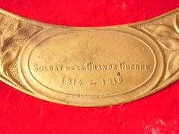 "Plaque ""soldat De La Grande Guerre""  Casque Adrian 14/18 - Headpieces, Headdresses"