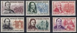 FRANCE Poste 1297 à 1300 ** MNH Célébrités Du Guesclin Daumier Appolinaire Drouot ... (CV 18 €) - France