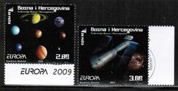 CEPT 2009 BA MI 541-42 BOSNIA AND HERZEGOVINA USED - Europa-CEPT