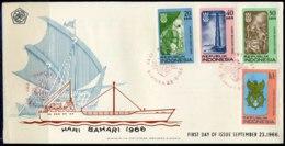 INDONESIE: ZB 540/543 FDC 1966 Dag Van De Scheepvaart - Indonesië