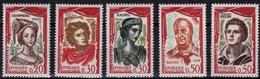 FRANCE Poste 1301 à 1305 ** MNH Célébrités Comédiens Théatre Raimu Philipe Rachel Talma - France