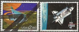 USA 1993 1995 Scott 2543 2544 Used Challenger, Space - Etats-Unis