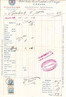 Rechnung, Hotel Porta Rossa, Firenze, Steuermarken, 1925 (61601) - Italien