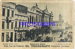 105245 ARGENTINA BUENOS AIRES BOULEVARD CALLAO & TRAMWAY TRANVIA PUBLICITY FABRICA TABACOS EL TELEGRAFO NO POSTCARD - Photographs