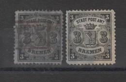 Allemagne _ Ville De Brême  (1866 ) N°11/11a - Brême