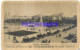 105246 ARGENTINA BUENOS AIRES PLAZA VICTORIA & TRAMWAY TRANVIA PUBLICITY FABRICA TABACOS EL TELEGRAFO NO POSTCARD - Photographs