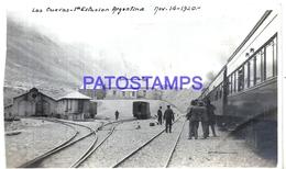 105248 ARGENTINA MENDOZA LAS CUEVAS STATION TRAIN ESTACION DE TREN YEAR 1920 PHOTO NO POSTAL POSTCARD - Photographs