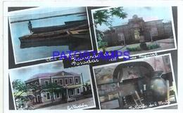 105249 ARGENTINA MISIONES POSADAS MULTI VIEW STATION TRAIN PALACIO DEL MATE CLUB DE PESCA PHOTO NO POSTAL POSTCARD - Photographs