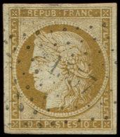 EMISSION DE 1849 -  1    10c. Bistre-jaune, Obl. PC 1557, TB Cote : 355 - 1849-1850 Cérès