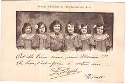 CPA.COLLECTION DE L'ALBUM DU VIN MARIANI.GROUPE D'ENFANTS DE L'ORPHELINAT DES ARTS - France
