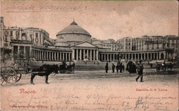 ! Alte Ansichtskarte Aus Neapel, Napoli, Basilica Di S. Lucia, Kirche, Church, Italien, Italy - Napoli (Napels)