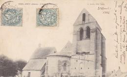 02  VIEIL ARCY .CPA . L'EGLISE  ANNEE 1904 + TEXTE - France