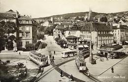 NEUCHÂTEL Place Purry Strassenbahn Tram Bus - NE Neuchâtel