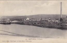 02  MAIZY .CPA .RARETE  LA SCIERIE. ANNEE 1908 + TEXTE - France