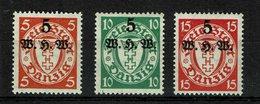 Danzig Michel Nr.: 237 - 239 Postfrisch Mit Falz - Danzig