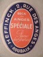 étiquette Ancienne Brasserie HEFFINCK A ROUBAIX Bock Des Anges Spéciale Reine Des Bières - Bière