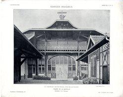 LA CHAPELLE SAINTE CECILE RUE DE LA PLAINE PARIS  FACADE  -  PLANCHE ISSUE DE LA REVUE L ARCHITECTURE 1913 - Architecture