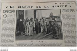 1906 CIRCUIT DE LA SARTHE - SALON AU TOMOBILE DE BRUXELLES - LONDON HOSPITAL RUGBY - PRIX LEMONIER - SPRINTEURS - Journaux - Quotidiens