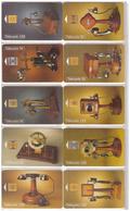 France. 10 Télécartes  Collection Historique : Téléphones. - Telephones